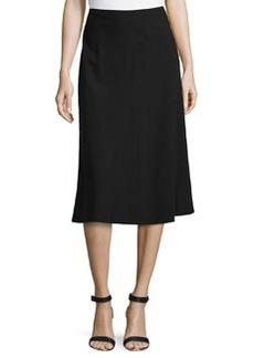 Lafayette 148 New York Solid A-Line Skirt, Black