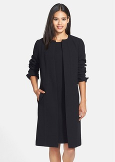 Lafayette 148 New York 'Soraya' Wool Crepe Coat