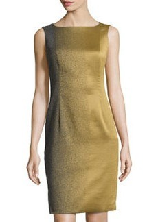 Lafayette 148 New York Speckled Jacquard Sleeveless Dress, Olio Multi