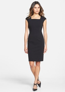 Lafayette 148 New York Square Neck Punto Milano Sheath Dress