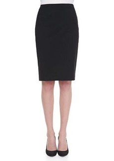 Lafayette 148 New York Stafani Leather-Zip Pencil Skirt