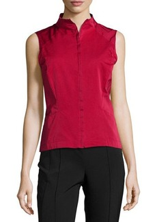 Lafayette 148 New York Stand-Collar Fitted Vest