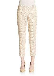 Lafayette 148 New York Stanton Abstract-Print Pants