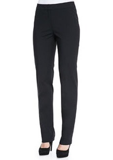 Lafayette 148 New York Stanton Cotton-Stretch Pants, Black