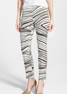 Lafayette 148 New York 'Stanton' Print Slim Leg Ankle Pants
