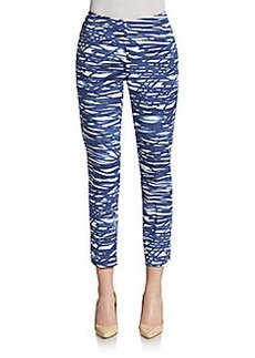 Lafayette 148 New York Stanton Printed Stretch Cotton Pants