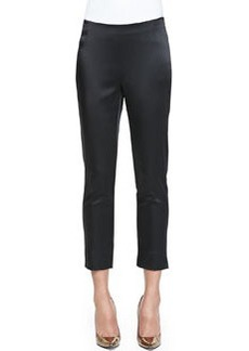 Lafayette 148 New York Stanton Satin Stretch Cropped Pants