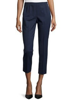 Lafayette 148 New York Stanton Slim-Fit Cropped Pants, Armada