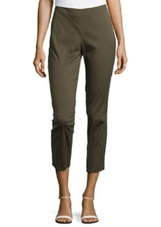 Lafayette 148 New York Stanton Straight-Leg Ankle Pants, Vine