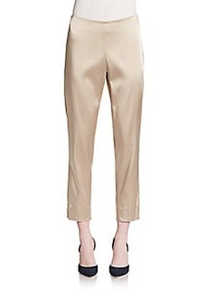 Lafayette 148 New York Stanton Stretch-Satin Pants