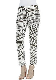 Lafayette 148 New York Stanton Zebra-Print Pants  Stanton Zebra-Print Pants
