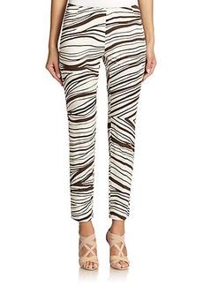 Lafayette 148 New York Stanton Zebra-Print Pants