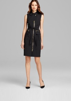 Lafayette 148 New York Starla Dress with Leather Combo