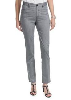 Lafayette 148 New York Static Stripe Pants - Curvy Slim Leg (For Women)