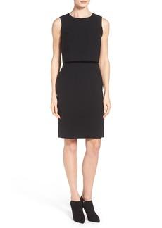 Lafayette 148 New York 'Stefania' Sleeveless Popover Dress