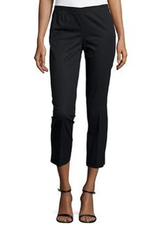 Lafayette 148 New York Straight-Leg Ankle-Crop Pants, Black