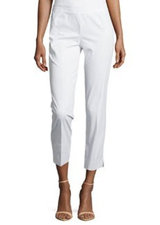 Lafayette 148 New York Straight-Leg Ankle-Crop Pants, White