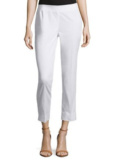 Lafayette 148 New York Straight-Leg Crepe Pants