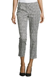 Lafayette 148 New York Straight-Leg Cropped Pants, Black Multi