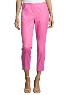 Lafayette 148 New York Straight-Leg Cropped Pants, Dahlia