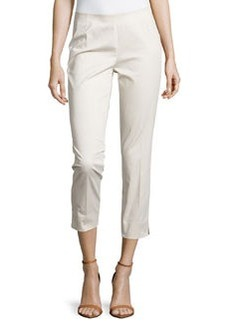 Lafayette 148 New York Straight-Leg Cropped Pants, Raffia