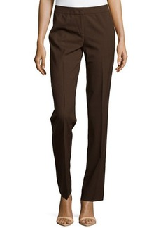 Lafayette 148 New York Straight-Leg Front-Zip Pants