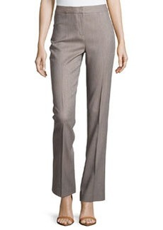 Lafayette 148 New York Straight-Leg Menswear-Inspired Trousers, Coconut
