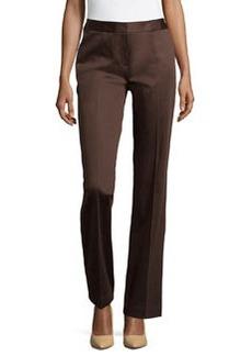 Lafayette 148 New York Straight-Leg Menswear-Inspired Trousers, Espresso