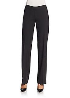 Lafayette 148 New York Straight-Leg Stretch Wool Pants