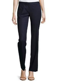 Lafayette 148 New York Straight-Leg Suiting Pants, Ink