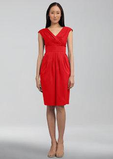 Lafayette 148 New York Stretch-Cotton Banded Dress