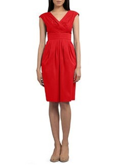 Lafayette 148 New York Stretch-Cotton Banded Dress