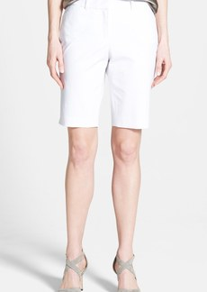 Lafayette 148 New York Stretch Cotton Bermuda Shorts