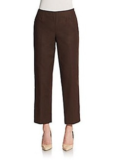 Lafayette 148 New York Stretch Cotton Cropped Pants