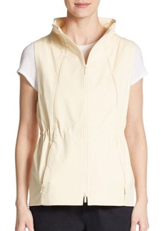 Lafayette 148 New York Stretch Cotton Drawstring Vest