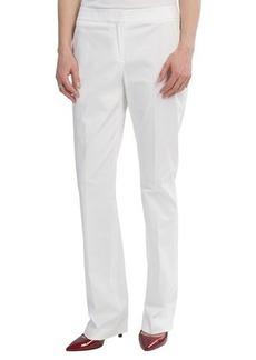 Lafayette 148 New York Stretch Cotton Sateen Pants - Straight Leg (For Women)