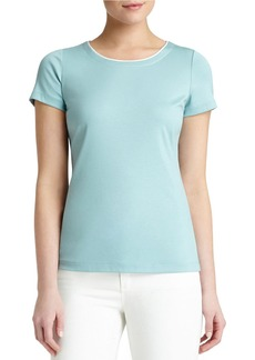 LAFAYETTE 148 NEW YORK Stretch Cotton Top