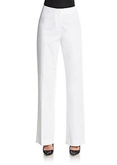 Lafayette 148 New York Stretch Cotton Trousers