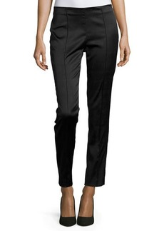 Lafayette 148 New York Stretch Embossed Pants w/Pintucks