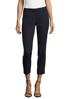 Lafayette 148 New York Stretch-Knit Cropped Pants, Navy