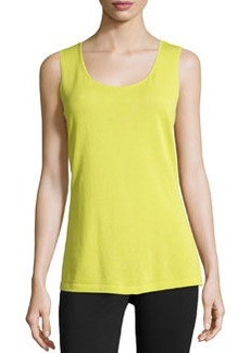 Lafayette 148 New York Stretch-Knit Pullover Tank, Yellow-Green