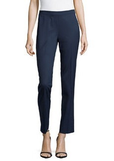 Lafayette 148 New York Stretch-Twill Ankle Pants, Armada