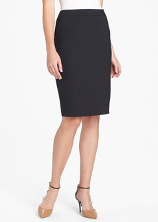 Lafayette 148 New York Stretch Wool Pencil Skirt