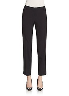 Lafayette 148 New York Stretch Wool Slim-Leg Pants