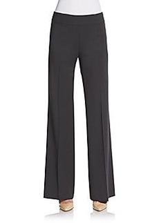Lafayette 148 New York Stretch Wool Wide-Leg Trousers