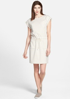 Lafayette 148 New York Stripe Drawstring Dress