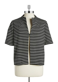 LAFAYETTE 148 NEW YORK Striped Jersey Jacket