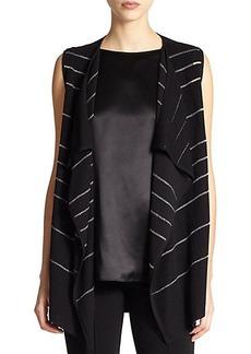 Lafayette 148 New York Striped Knit Vest