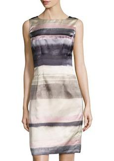Lafayette 148 New York Striped Sleeveless Sheath Dress