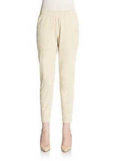 Lafayette 148 New York Suede Jogger Pants